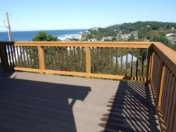 Lincoln City Beach House - Main Level - View From Deck
